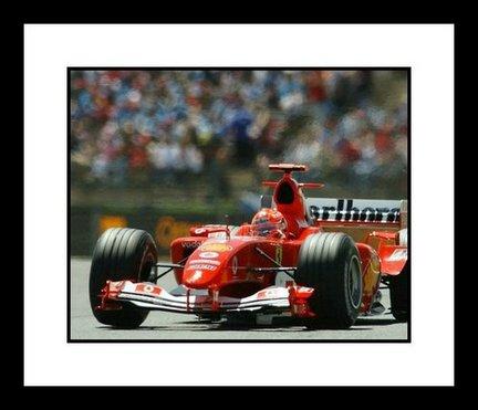 Auto Racing Helmet on Michael Schumacher F1 Auto Racing  Ferrari  Framed 8  X 10  Photograph