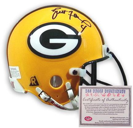 Autograph | Football | Replica | Packer | Helmet | Brett | Green | Mini | Bay | NFL