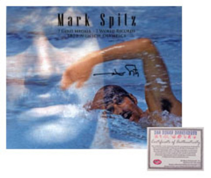 "Mark Spitz USA Olympics Swimming Autographed """"Double Exposure"""" 16"""" x 20"""" Photograph (Unframed)"" AAA-75211"