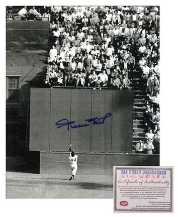 "Willie Mays San Francisco Giants MLB Autographed ""The Catch"" 8"" x 10"" Photograph (Unframed)"