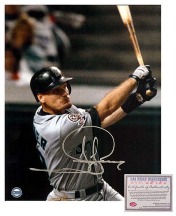 """Jay Buhner Seattle Mariners MLB Autographed """"Swinging"""" 16"""" x 20"""" Photograph (Unframed)"""