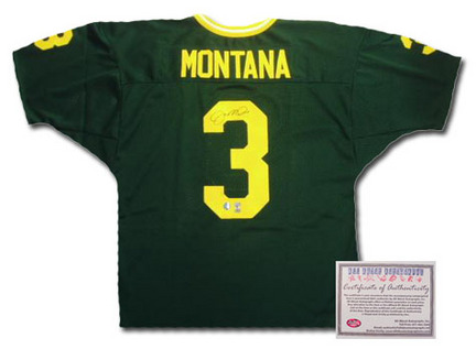 Authentic | Autograph | Football | Montana | Jersey | Notre | Irish | Fight | Green | Dame | NCAA | Joe
