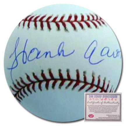 Hank Aaron Atlanta Braves Autographed Rawlings MLB Baseball