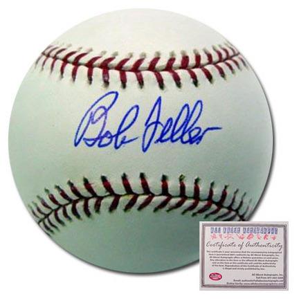 Bob Feller Cleveland Indians Autographed Rawlings MLB Baseball