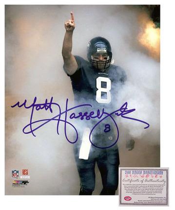 "Matt Hasselbeck Seattle Seahawks NFL Autographed """"Fog Entrance"""" 8"""" x 10"""" Photograph (Unframed)"" AAA-75504"