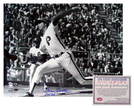 """Steve Carlton Philadelphia Phillies MLB Autographed Black and White 16"""" x 20"""" Photograph with """"HOF 94&quo"""