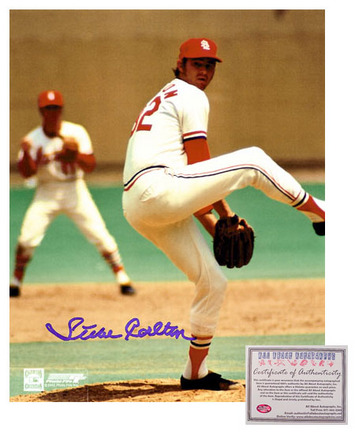 "Steve Carlton St. Louis Cardinals MLB Autographed ""Pitching"" 8"" x 10"" Photograph (Unframed)"