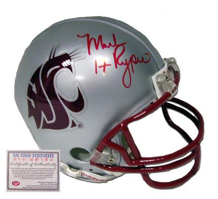 Mark Rypien Autographed Washington State Cougars NCAA Mini Replica Football Helmet