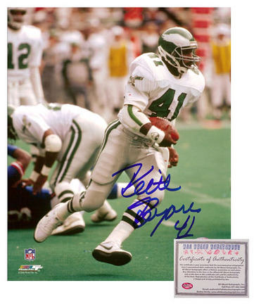 "Keith Byars Autographed """"Rushing"""" 16"""" x 20"""" Photograph (Unframed)"" AAA-75662"