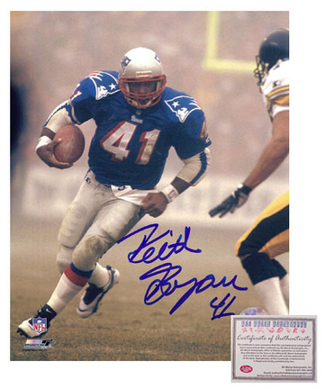 "Keith Byars Autographed """"Rushing in Blue Jersey"""" 8"""" x 10"""" Photograph (Unframed)"" AAA-75664"