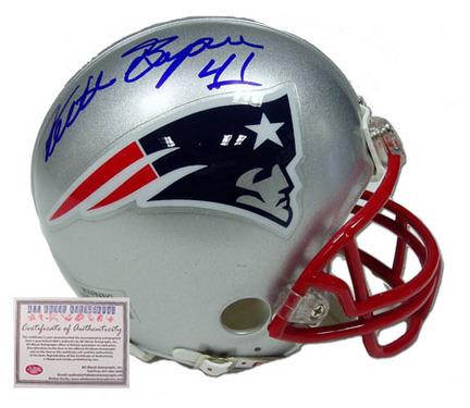 Keith Byars Autographed New England Patriots NFL Mini Replica Football Helmet AAA-75668