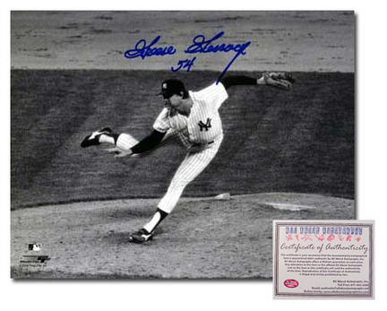 "Goose Gossage Autographed ""Pitching"" Black and White 8"" x 10"" Photograph (Unframed)"