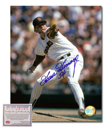 """Goose Gossage Autographed """"""""San Diego Padres Pitching"""""""" 8"""""""" x 10"""""""" Photograph (Unframed)"""" AAA-75695"""