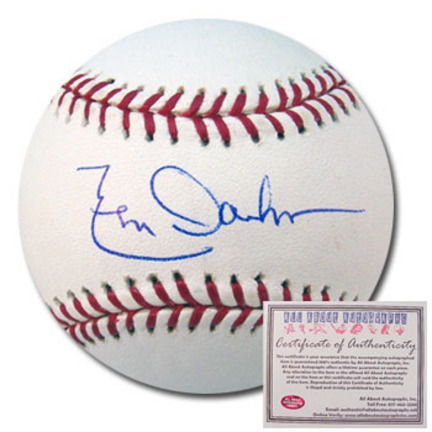 Leon Durham Autographed Rawlings MLB Baseball AAA-75765