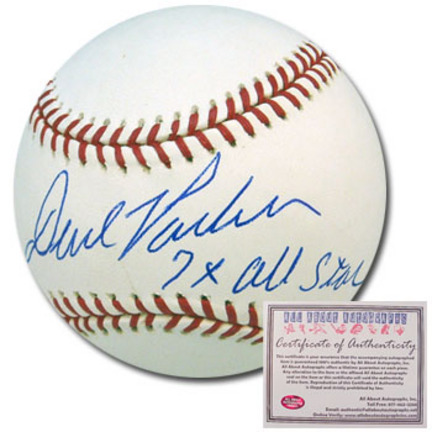 "David Parker Autographed Rawlings MLB Baseball with """"7x All Star"""" Inscription"" AAA-75789"