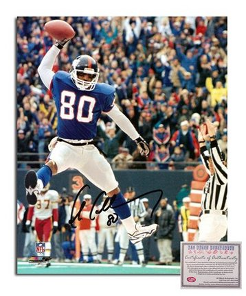 "Chris Calloway New York Giants Autographed 8"" x 10"" Spiking Ball Photograph with ""80"" Inscription (U"