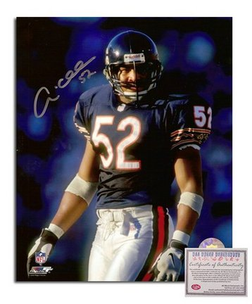 """Andre Collins Chicago Bears Autographed 8"""" x 10"""" Photograph with """"52"""" Inscription (Unframed)"""