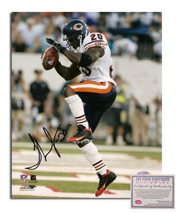 "Thomas Jones Chicago Bears Autographed 8"""" x 10"""" White Jersey Photograph with """"20"""" Inscription (Unframed)"" AAA-75884"