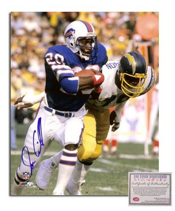 "Joe Cribbs Buffalo Bills Autographed 8"" x 10"" vs. San Diego Chargers Closeup Photograph (Unframed)"