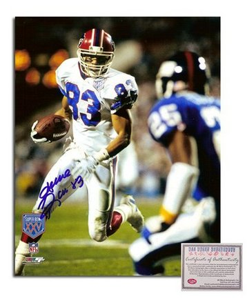 """Andre Reed Buffalo Bills Autographed 8"""""""" x 10"""""""" Super Bowl XXV Photograph with """"""""83"""""""" Inscription (Unframed)"""" AAA-75894"""