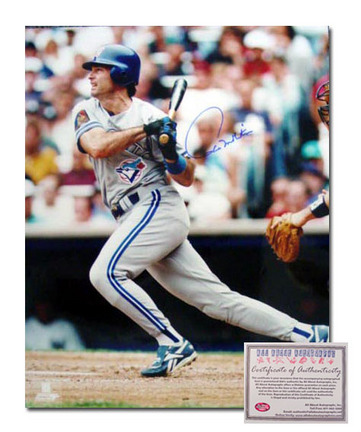 "Paul Molitor Toronto Blue Jays Autographed 16"" x 20"" Action Hitting Photograph (Unframed)"