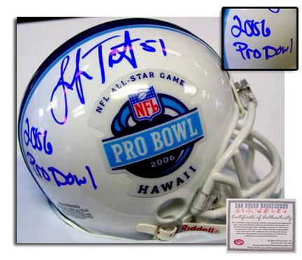"Lofa Tatupu Autographed 2006 Pro Bowl Mini Football Helmet with """"2006 Pro Bowl"""" Inscription"" AAA-76027"
