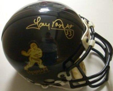 Tony Dorsett Pittsburgh Panthers NCAA Autographed Mini Heisman Logo Black Helmet