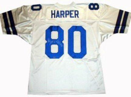 Alvin Harper Dallas Cowboys NFL Autographed Authentic White Jersey