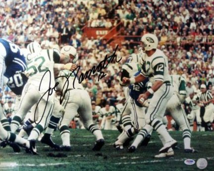 "Joe Namath New York Jets NFL Autographed """"Throwing"""" 16"""" x 20"""" Photograph"" AAA-76152"