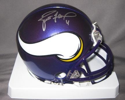 Brett Favre Minnesota Vikings NFL Autographed Mini Football Helmet AAA-76177