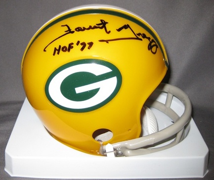 Forrest Gregg Green Bay Packers NFL Autographed Mini Football Helmet with HOF '77 Inscription
