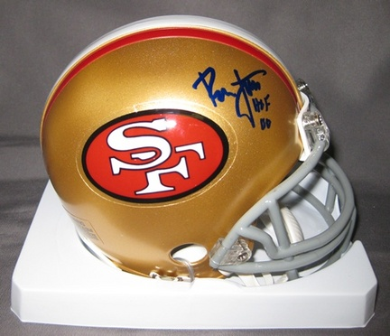 Ronnie Lott San Francisco 49ers NFL Autographed Mini Football Helmet with HOF '00 Inscription
