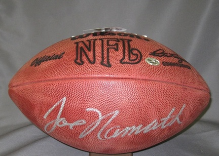 Joe Namath New York Jets NFL Autographed Official Football AAA-76293