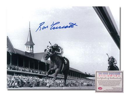 "Ron Turcotte Secretariat Horse Racing Autographed ""Triple Crown Winner 1973 Black and White"" 16"" x 20&quo"