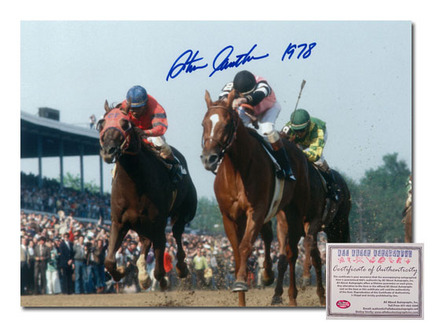 "Steve Cauthen Affirmed Horse Racing Kentucky Derby ""Triple Crown Winner 1978 Color"" Autographed 11"" x 14&"