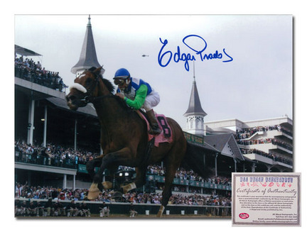 Click here for Edgar Prado Barbaro Horse Racing Autographed 2006... prices