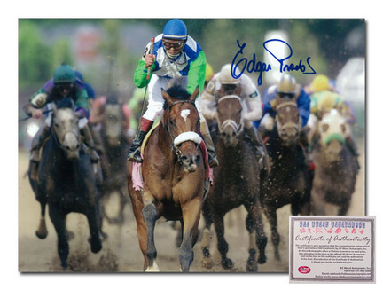 "Edgar Prado Barbaro Horse Racing ""2006 Kentucky Derby Front View"" Autographed 8"" x 10"" Photograph"