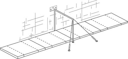 HB-320 Wall Mounted Horizontal Bar from American Athletic, Inc