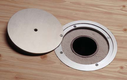One Locking Super Float Floor Plate and Ground Sleeve from Spalding