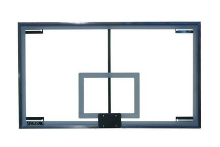 "SuperGlass Collegiate SB Basketball Backboard with center strut 72"""" x 42"""" from Spalding"" AAI-413-011"