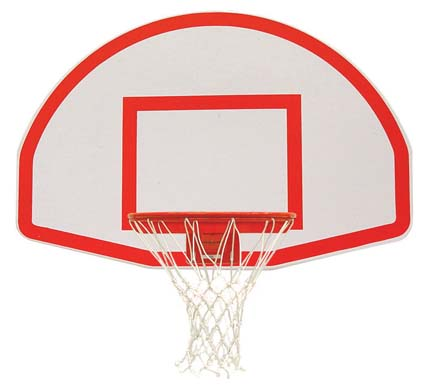 Aluminum Fan Basketball Backboard White Powder Coated and Target from Spalding