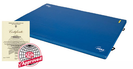 "8' x 15' x 4"" (2.4m x 4.5m x 10cm) Lined (95cm - 150cm) FIG Approved Throw Mat from American Athletic, Inc."
