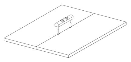 """16' x 16' x 4"""" FIG Competition Pommel Horse Mat System from American Athletic, Inc"""