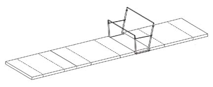 FIG Competition Landing Mat Set for Uneven Bars from American Athletic, Inc.