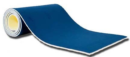 """1 3/8"""" Red Foam Bonded Floor Exercise Carpet Roll from American Athletic, Inc."""