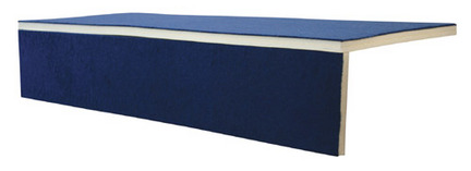 "2"" x 2' x 6' Foam Bonded Carpet Pit Edging from American Athletic, Inc."