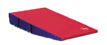 "48"" x 72"" x 16"" (121 x 182 x 40cm) Red / Royal Firm Foam Folding Motor Development Wedge from American At"