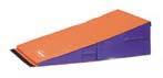 """24"""" x 48"""" x 14"""" (61 x 122 x 36cm) Orange / Purple Standard Foam Folding Motor Development Wedge from Amer"""