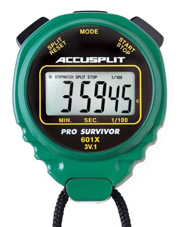 ACCUSPLIT A601X PRO SURVIVOR ™ Stopwatch - Green
