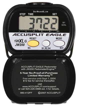 Accusplit AE120XLG Wellness Series Pedometer